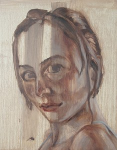 sibylle 1, 2008, oil on canvas, 55x70cm