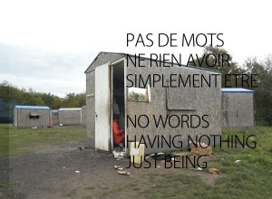 Pas de mots - No words, Dunkerque, 30 november 2013, flyer